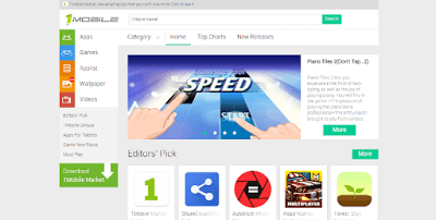 1mobile Alternative App Store App For Android to Google Play Store- Download Paid App Free