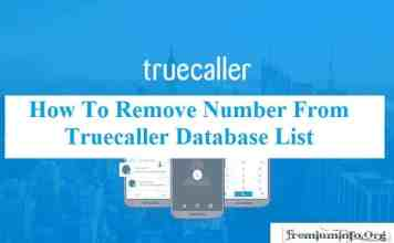 Remove Number From Truecaller Database List