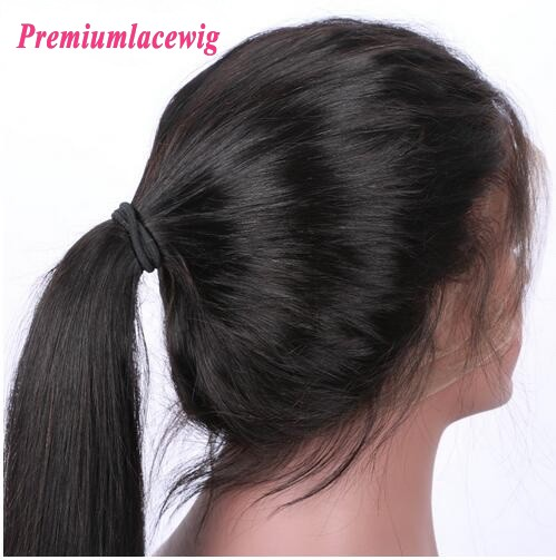 360 Lace Front Wigs 130 Density Indian Straight Hair 18inch