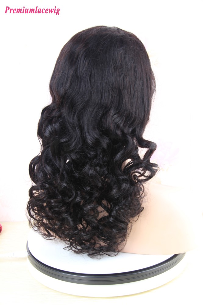 360 Lace Wig Pre Plucked Brazilian Body Curly Human Hair
