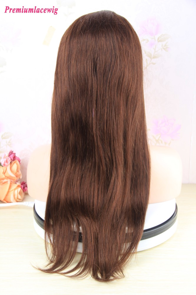 20 Inch Brazilian Straight Hair 360 Lace Frontal Wigs With