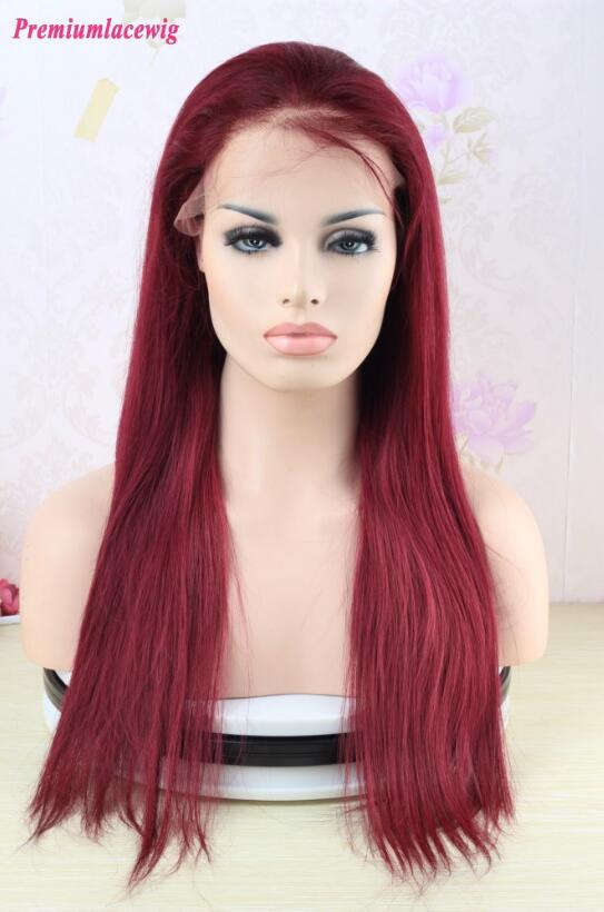99J Brazilian Straight 360 Lace Frontal Wigs Pre Plucked