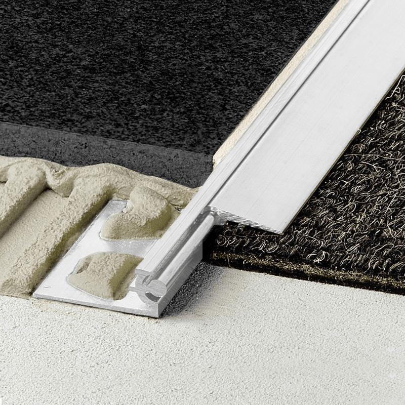 reno aev tile to carpet vinyl bar anodised aluminium 2 5m length by schluter
