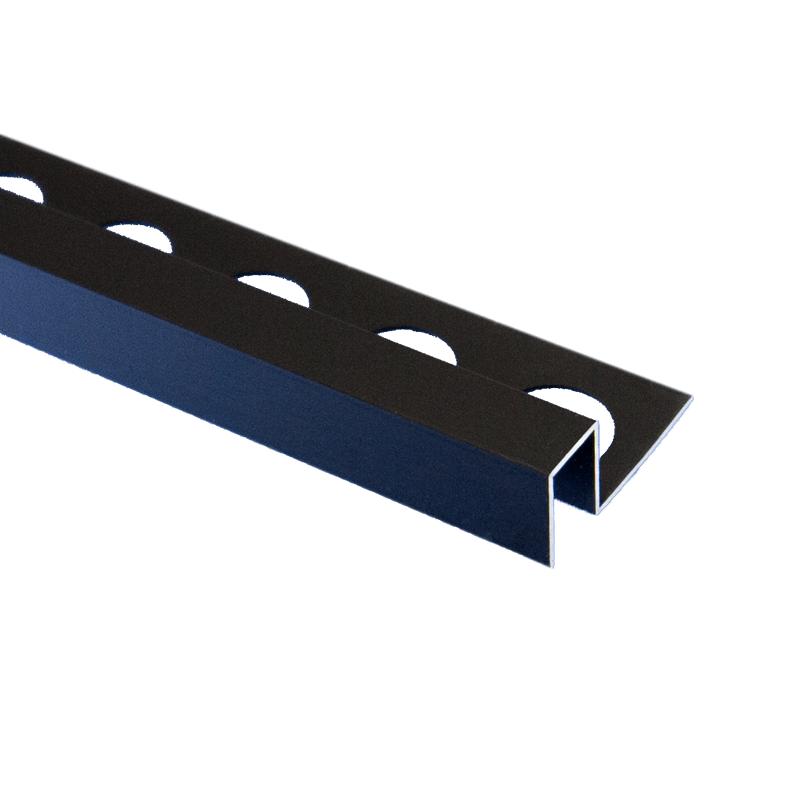 trade metal square edge matt black tile trim 2 5m length by pro tile trim