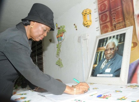SIGNING OF CONDOLENCE REGISTER AT LATE JUSTICE KAYODE ESHO'S RESIDENCE IN IBADAN