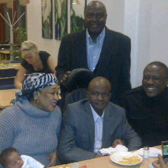 Danbaba Suntai and family in Germany
