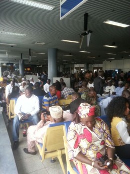 Passengers stranded at the Abuja airport