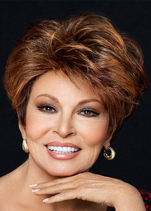 Short Brown Monofilament Lace Front Wig Luxury Raquel