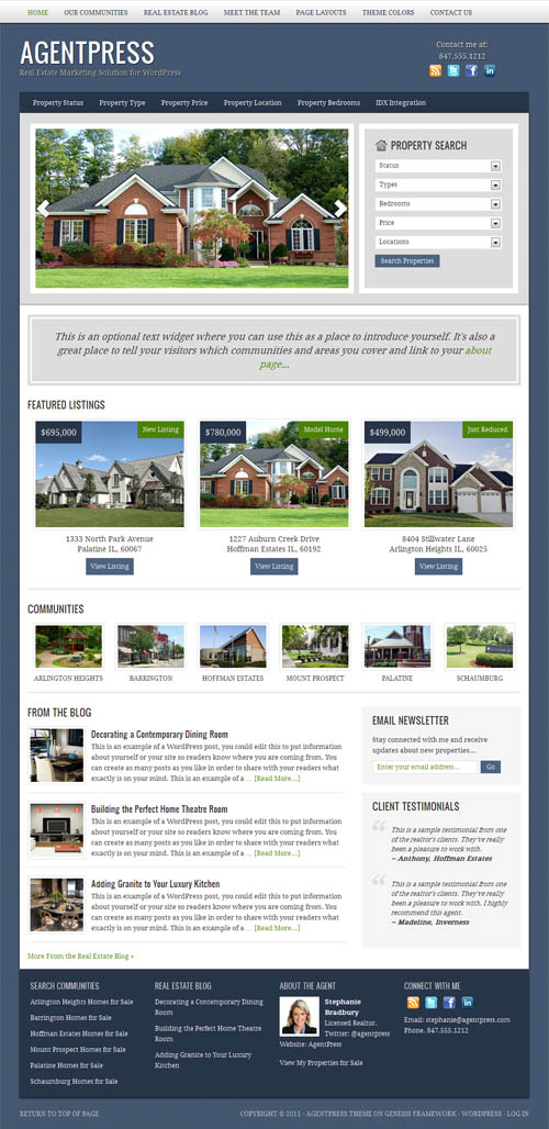 40+ Best Real Estate WordPress Themes 2017