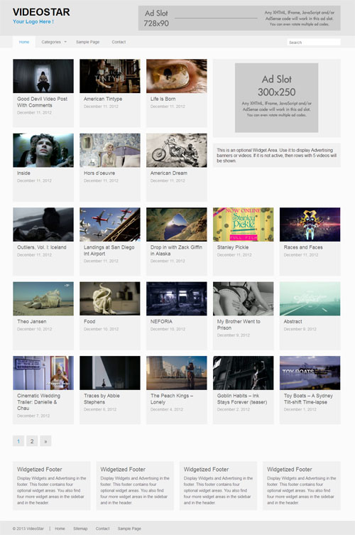 Responsive Vídeo Tema WordPress