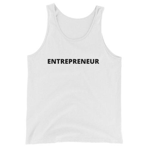 Entrepreneur Unisex Tank Top (White)