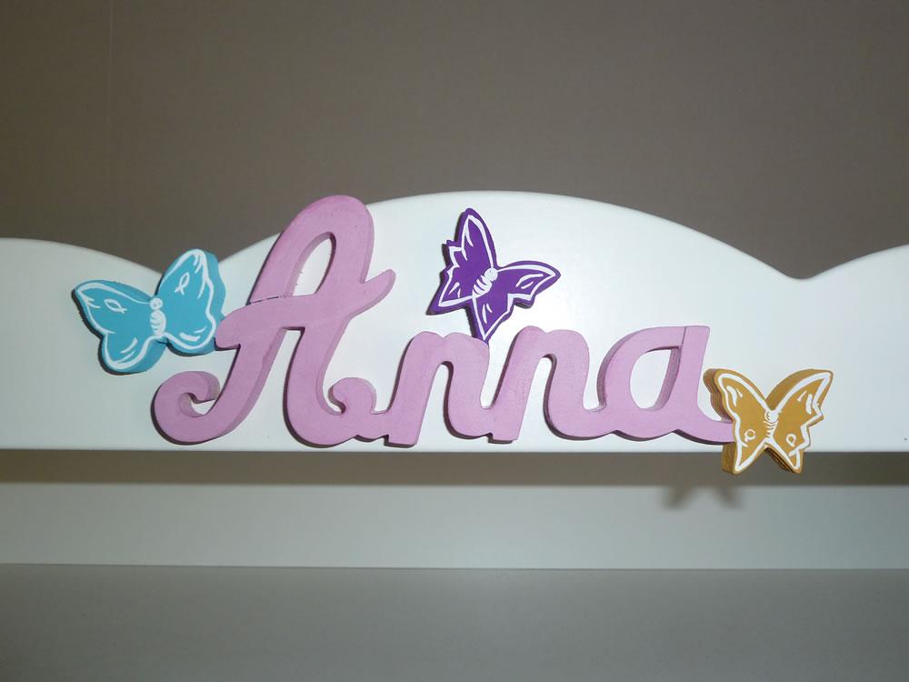 Lettres Attaches Papillon Prnoms En Bois Dcoration