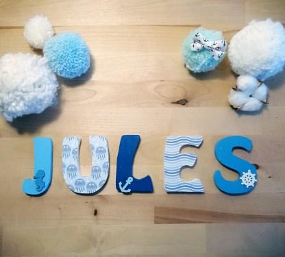 Jules prénom bois marine