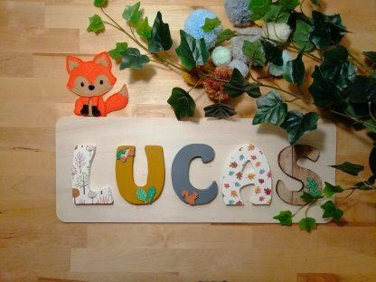 Lucas prénom bois forêt