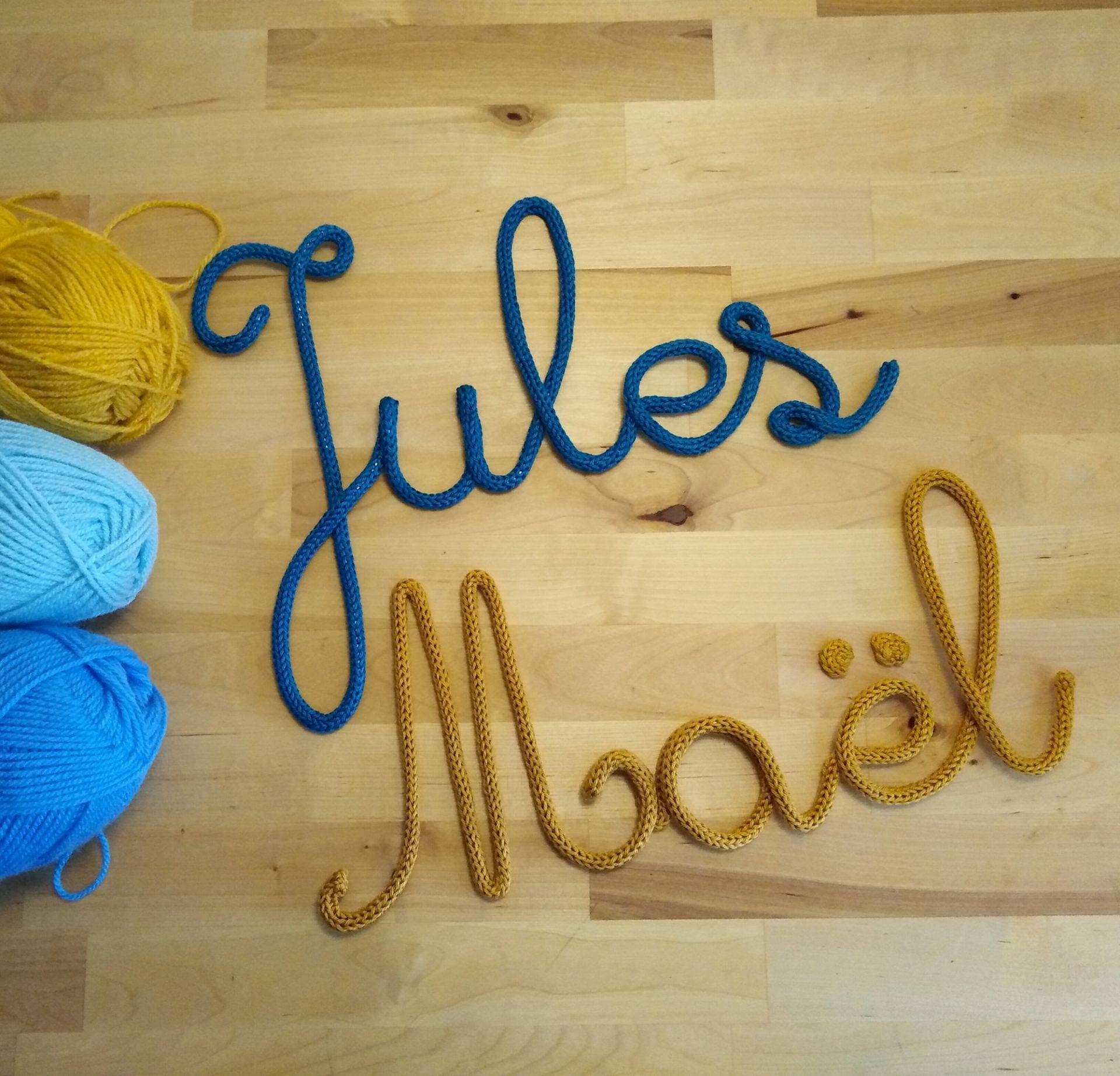 Jules & Maël en tricotin