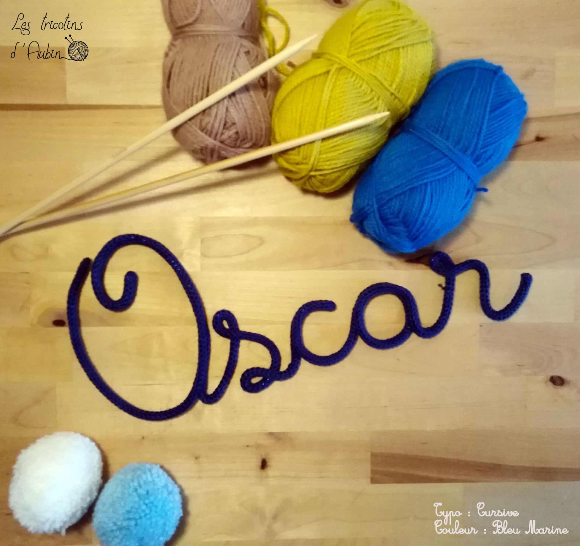 Oscar en tricotin