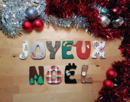 Joyeux Noël décoration bois