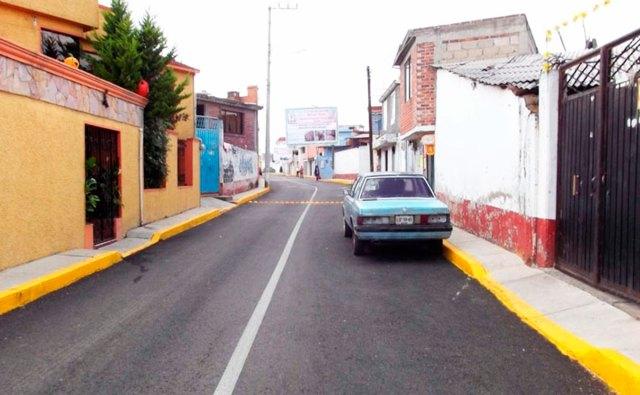 Pavimentación de la Calle Prolongación Independencia así como cambio de red de drenaje y agua potable