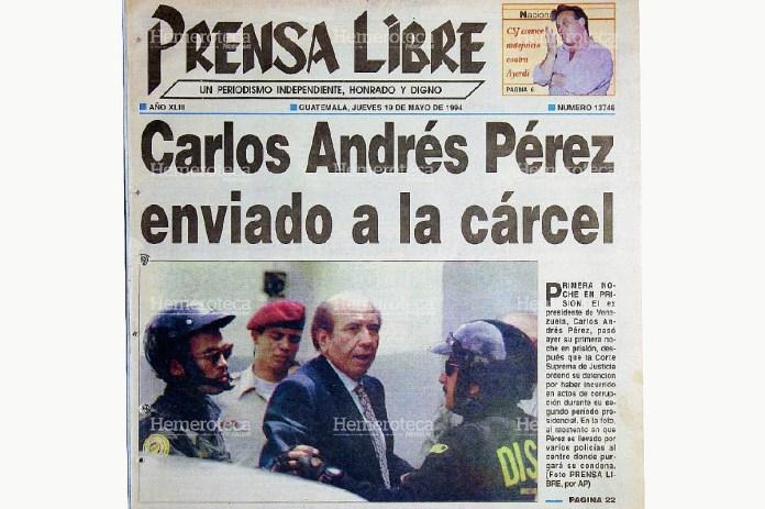 Resultado de imagen para Fotos del antejuicio de Carlos Andrés Pérez
