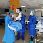 Bebe de madre con Covid-19, fue dado de alta en el hospital Virgen de la Puerta de EsSalud La Libertad