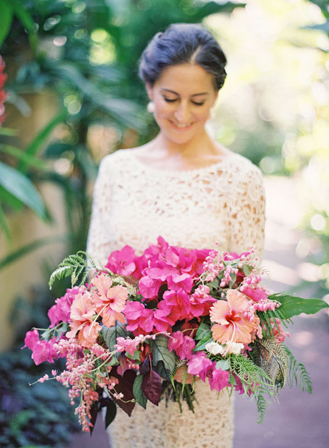 Think Pink Hot Pink Wedding Bouquets PreOwned Wedding