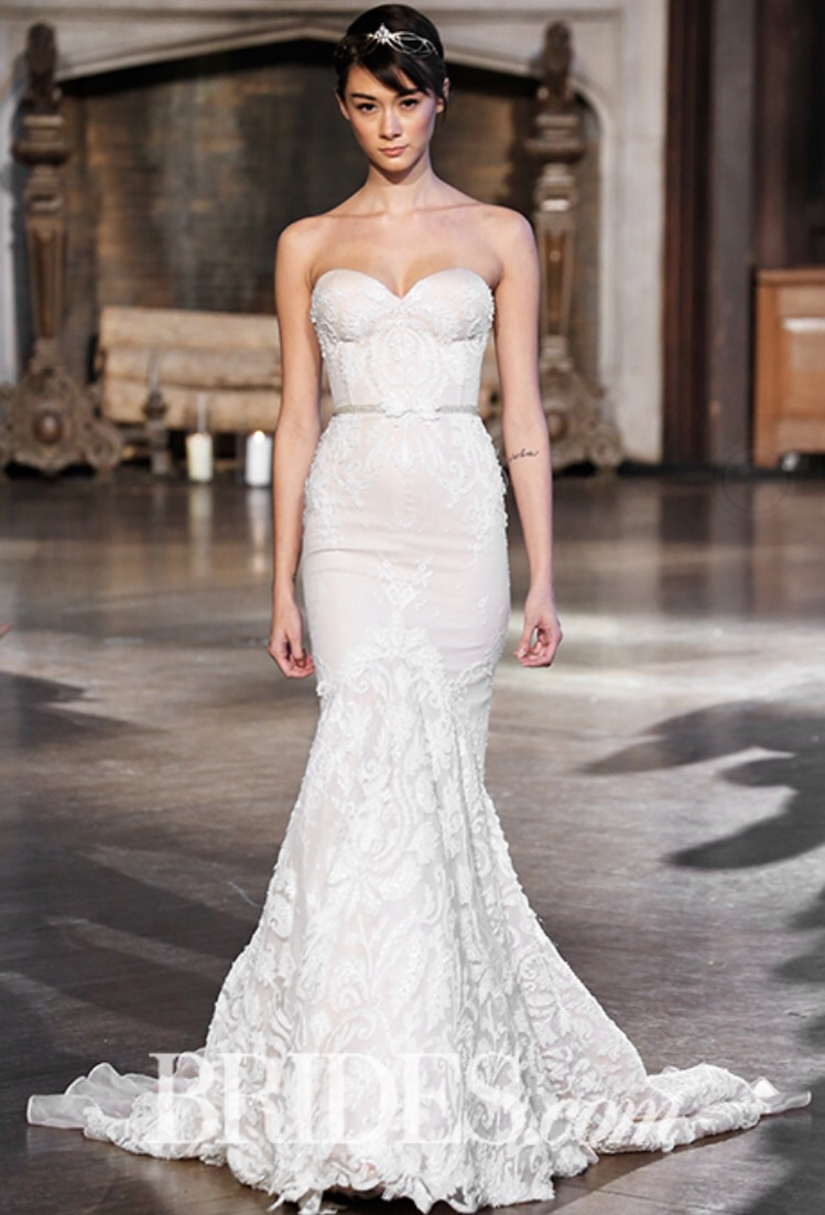 Inbal Dror Mermaid Br15 16 Ivory Lace With Pale Light Pink