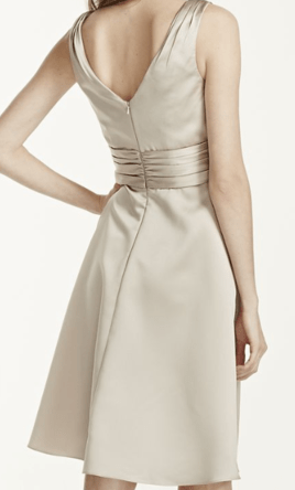 David s Bridal Short Sleeveless Satin Dress Ruched Waist F14823     Pin it      David s Bridal Short Sleeveless Satin Dress Ruched Waist F14823 6