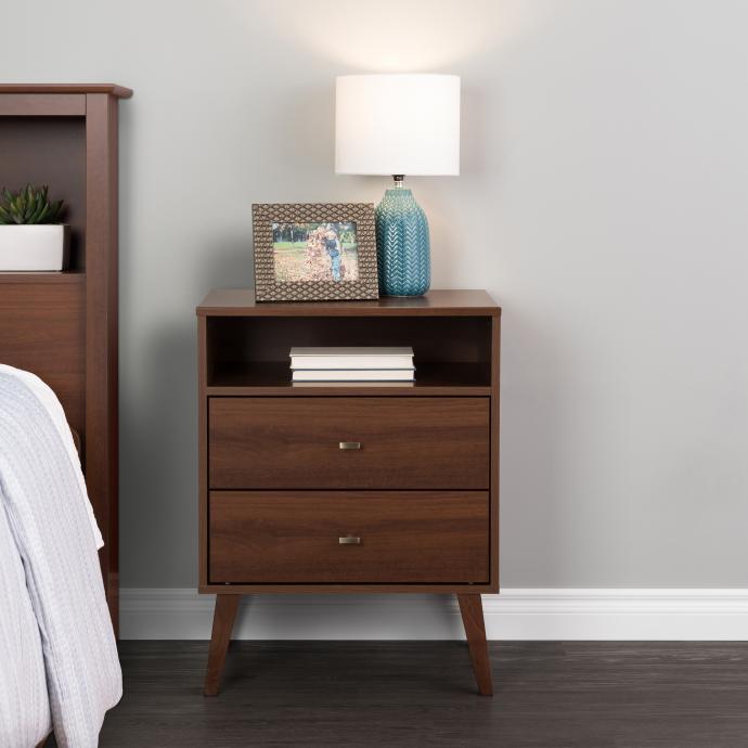 milo mid century modern 2 drawer tall