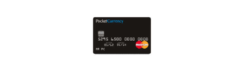 PocketCurrency Prepaid Card