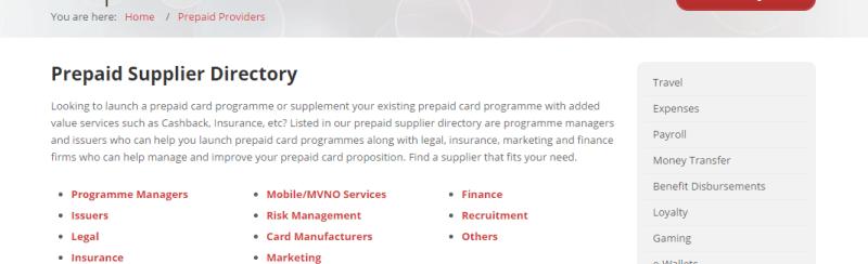 Prepaid Provider Listings