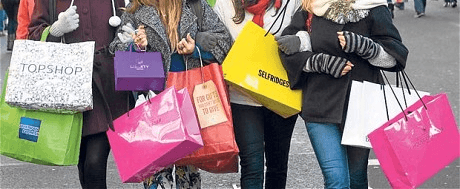 Christmas Shopping Retail Growth