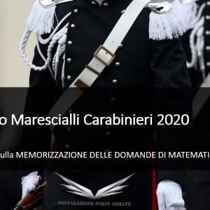 sercizi matematica banca dati maresciallo carabiniere 2020