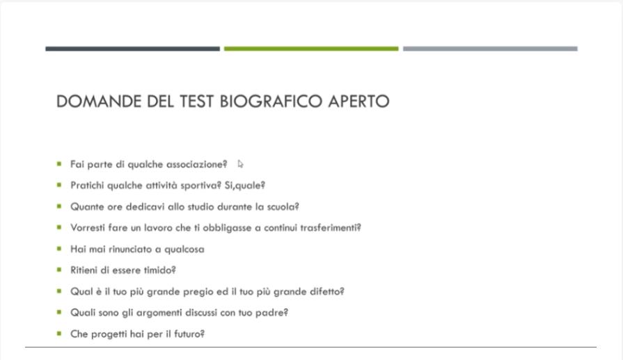 test psico attitudinali accademia carabinieri ufficiali