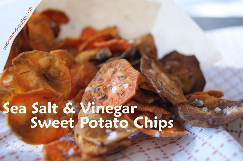 Sea Salt & Vinegar Sweet Potato Chips