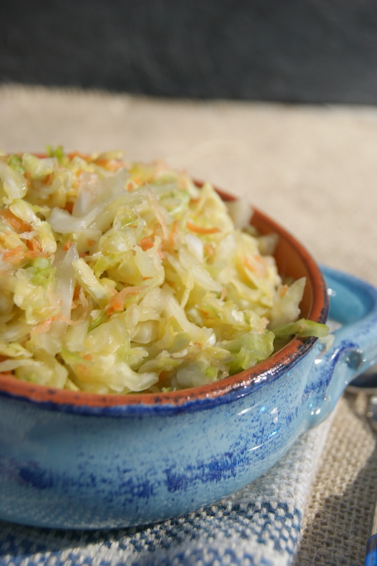 Ginger and Garlic Sauerkraut - great source of natural probiotics with the added benefit of immune boosting ingredients.