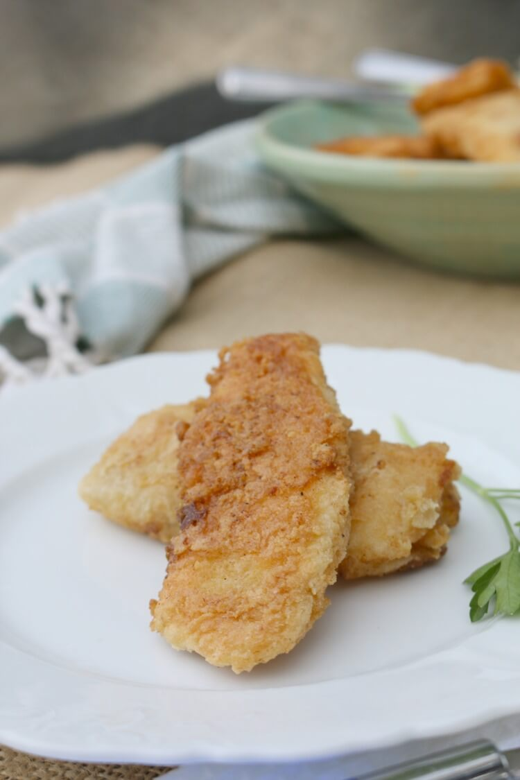 Gluten Free Fried Fish Sticks - easy recipe with only 4 ingredients (and all are wholesome):: find out what they are!!