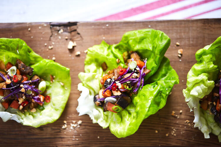 25+ Gluten Free Lettuce Wraps - perfect for a light meal or appetizer!