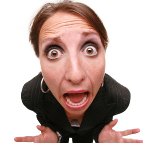 Image result for Person Screaming Woman