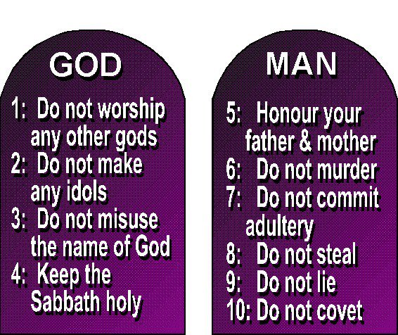 10 commandments of god # 1