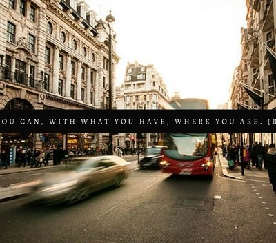 Enjoying Where You Are (in life), While On the way to Where you're Going