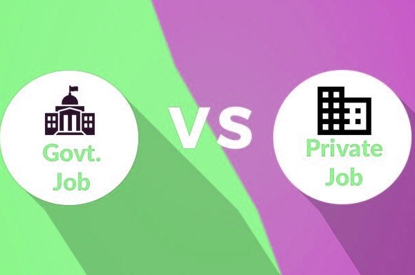 Private Job vs Government Job in India