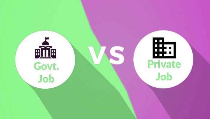 Private Job vs Government Job in India