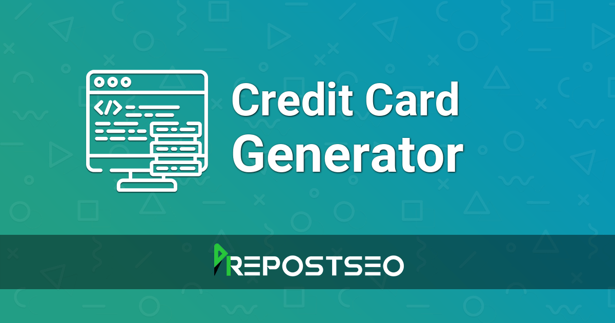 It will generate fresh card details; Credit Card Generator Fake Credit Card Number Generator
