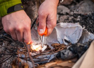 Starting a Fire in Wet Weather