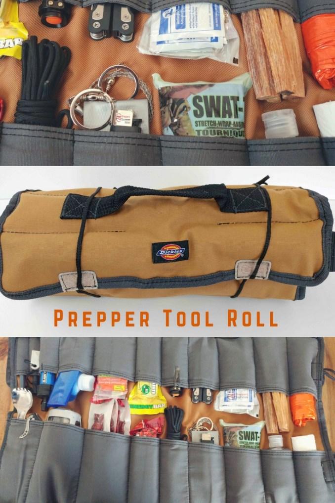 Prepper Tool Roll - Bugout bag organizer - survival roll cf776e675bf3b
