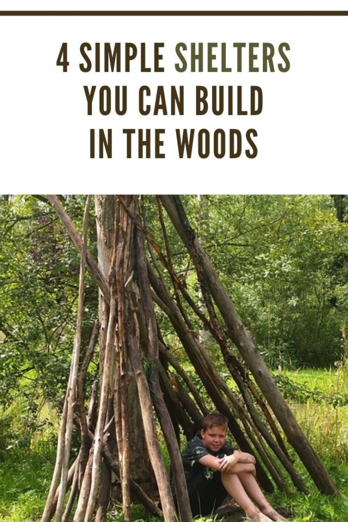 4 Simple Ways to Build Shelter in the Woods- Survival shelter