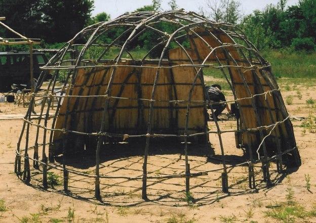 wigwam-frame greenhouse
