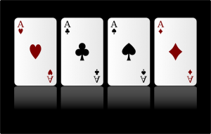What's the probability of being dealt four aces?!