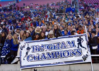 A championship program in great shape is what Peck leaves behind at Bingham. (Photo by Shane Marshall)