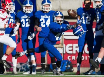 Tyler Topham came on strong late in 2014 and returns as one of Bingham's weapons on the outside. (Photo by Dave Argyle, dbaphotography.com)